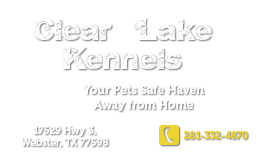 Clearlake Kennels Address telephone transparent